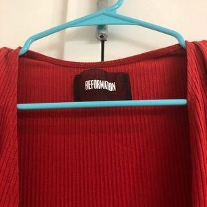 Reformation Britton wrap dress